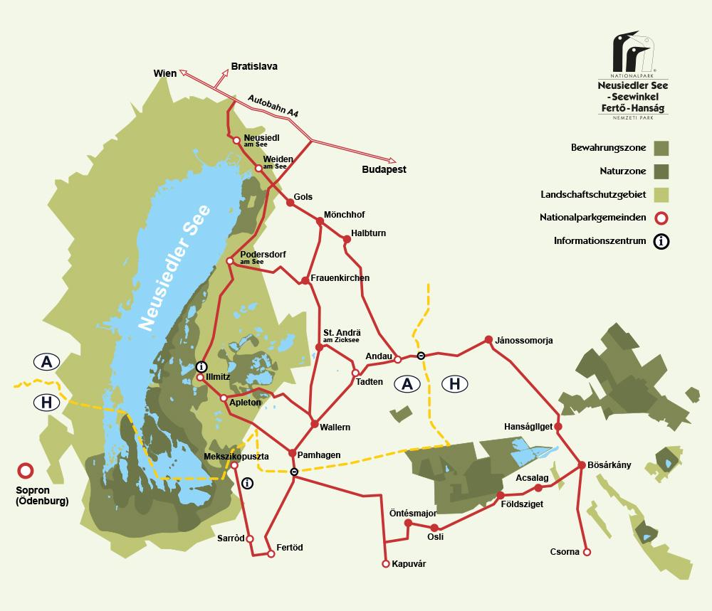 NP-Karte: Gebiet & Verkehrsverbindungen